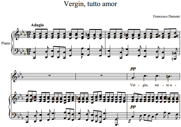 Francesco Durante - Vergin, tutto amor