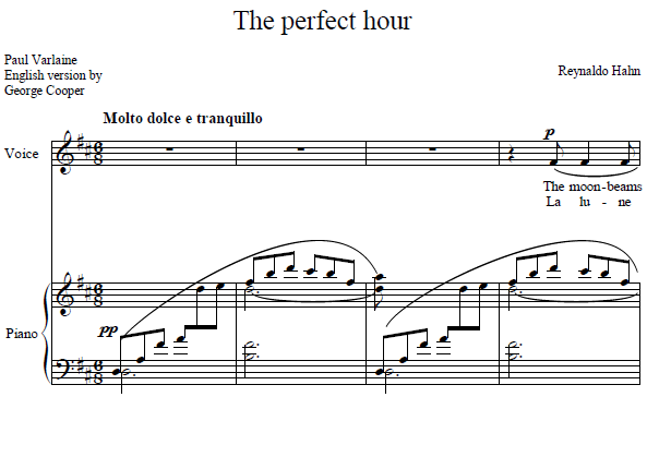 Reynaldo Hahn - The perfect hour